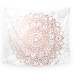 Pleasure Rose Gold Wall Tapestry by mermaidandunicorn