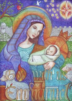 peggy aplSEEDS: Emmanuel, God With Us (very neat advent calendar made up of ATC's: each one representing something different from the Bible, and coming together to form a larger image).