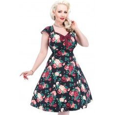 Robe Pin-Up Rétro 50's Rockabilly Isabella Winter Floral