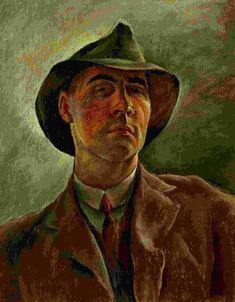 Albert Birkle, self-portrait Contemporary Artists, Modern Art, Famous Self Portraits, Selfies, Kathe Kollwitz, George Grosz, Degenerate Art, Art Eras, Character Portraits