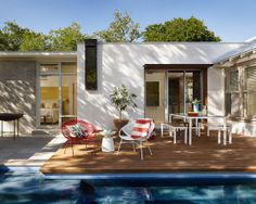 Home Decor Contemporary Deck. ガーデンデッキのインテリアコーディネイト実例