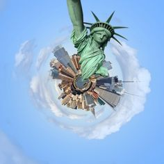 My pic from NYC using tiny planet application New York I love you