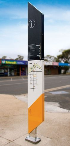 Mornington Shire — Heine Jones totem and plinth signage and signs for way finding and wayfinding. Directional Signage, Wayfinding Signs, Outdoor Signage, Vertical Signage, Environmental Graphic Design, Environmental Graphics, Web Banner Design, Sign Board Design, Signage Board