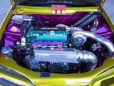 "Engine bay ideas, kind of an ""80s color scheme""."