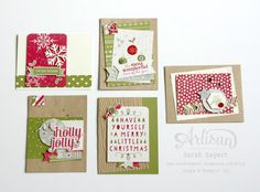 The Seasonal Snapshot Project Life Card Collection & Accessory Pack is perfect for creating Christmas cards! ~ Sarah Sagert