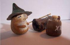 Groom Cake Topper for Redneck Wedding or Avid Fisherman - Animal, Camo Hat, Fishing Pole, Moonshine, Log - OOAK on Etsy, $18.50