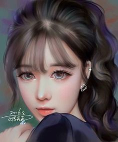 Find images and videos about girl, art and illustration on We Heart It - the app to get lost in what you love. Oil Portrait, Digital Portrait, Painting Portraits, Portrait Ideas, Princesas Disney Zombie, Digital Art Girl, Anime Art Girl, Anime Girls, Fantasy Girl