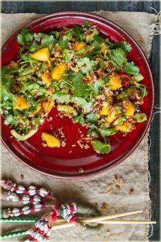 סלט אורז אדום בקוקוס ומנגו | לימור לניאדו תירוש