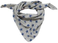 Ginger and Ruby cashmere Triangle Scarf with blue stars for little boys