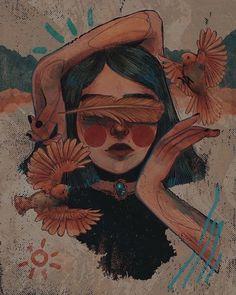 Arte Indie, Japon Illustration, Simple Illustration, Fantasy Illustration, Character Illustration, Watercolor Illustration, Digital Illustration, Cartoon Art Styles, Styles Of Art