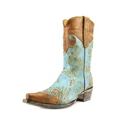 "Yippie Ki Yay By Old Gringo Caroline 10"" Boot - Turquoise/Brass"