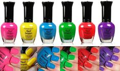 Neon Nail Polish, Neon Nails, Best Gifts For Girls, Birthday Gifts For Girls, Fall Nail Art, Fall Nail Colors, Neon Colors, Summer Colors, Gradient Nail Design