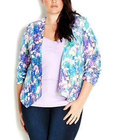 Look at this #zulilyfind! Petunia Monet Garden Jacket - Plus #zulilyfinds