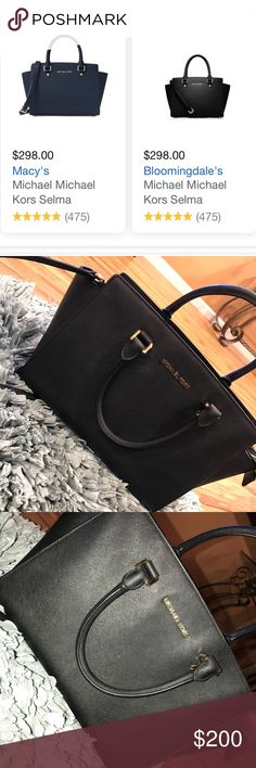 Michael Kors Selma Tote In gentle pre-loved condition ✨ great work bag. Can be used with the handles or with the shoulder strap. The interior is clean! Accepting offers.... Michael Kors Bags Satchels