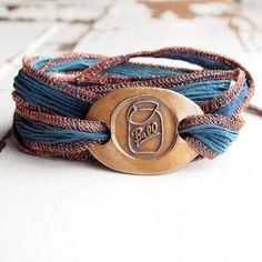 Ball Jar Silk Wrap Bracelet