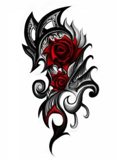 rose tattoo... I want this on my back