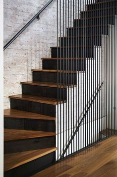 Leone Design Studio, Modern Architecture, Renovation, Interiors and Design Build in Brooklyn, New York Architecture Renovation, Stairs Architecture, Modern Architecture, Staircase Handrail, Stair Railing Design, Design Studio, House Design, Modern Stairs, Interior Stairs