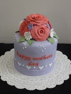 Whose mother wouldn't smile all day after receiving this cute cake?    www.belsonbespokejewellery.com
