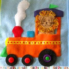 Circus Train Quiet Book Page