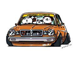 """CRAZY CAR ART """"MX30 CRESSIDA …BUTAME"""" original characters """"mame mame rock"""" / © ozizo Official web shop """"STAY CRAZY (in Society6)"""" Official web shop """"ozizo(in Redbubble)"""" """"Crazy Car Art"""" Line stickers """"Crazy car Art"""" Telegram stickers"""