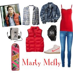 if Marty Mcfly was a girl by lizzynupa on Polyvore featuring Pieces, Gap, DANIELA GREGIS, Vero Moda, NIKE and Casio
