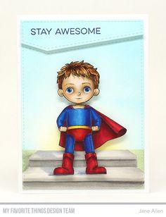 Super Boy Stamp Set, Stitched Basic Edges Die-namics - Jane Allen #mftstamps