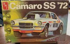 1972 Camaro, Camaro Ss, Bagged Trucks, Chevy Trucks, Model Cars Kits, Kit Cars, Vintage Models, Old Models, Model Kits For Adults