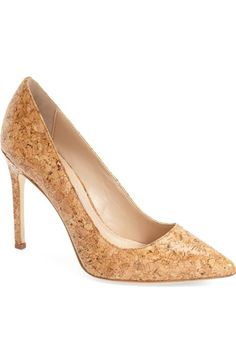 "Charles David ""Caterina"" Pointy Toe Pump in Cork; just found these on sale, so cute!"