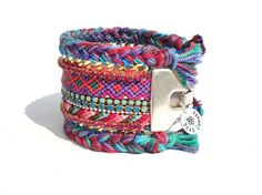 OOAKjewelz original wide friendship bracelet cuff by OOAKjewelz