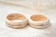 Made to order LOTR inspired Woodburned Ring of от PocketsOfArt