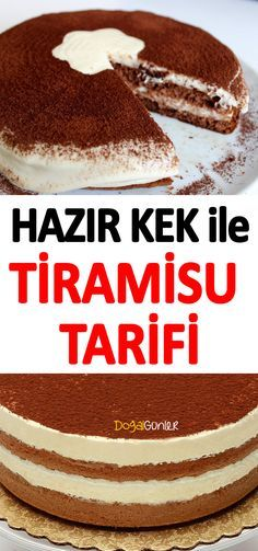 Tiramisu, which has become very popular in our country, can be prepared with a more practical recipe besides its classical recipe. Easy Cake Recipes, Dessert Recipes, Tiramisu, Dessert Pasta, Summer Desserts, Sweet And Salty, Cupcake Cookies, Vanilla Cake, Food And Drink