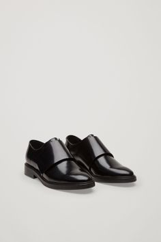 COS image 2 of Velcro brogue shoes in Black