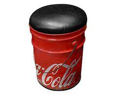 Banquinho Paint Bucket - Vermelho