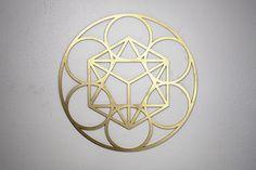Geometria Sagrada. Sacred Geometry Wood MDF Madera MDF www.luckyzen.net