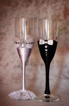 bride groom glasses