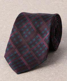 fabio silk tie necktie Black white dot stripe check art deco nouveau