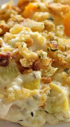 Cheesy Squash Casserole