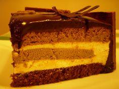 Entremets chocolat, vanille & café