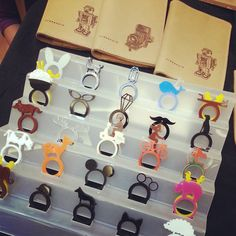 This picture is very interesting because there are many different stackable ring designs that are amazing!