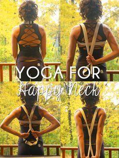 Trabajo de #yoga y #Pilates para un cuello más sano :)