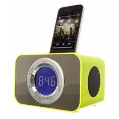KitSound Clock Radio Dock for iPod and iPhone iPod Nano Generation and iPod Touch Generation - Punk Pink Ipod Nano, Audio Headphones, Audio Speakers, Radios, Ipod Touch, Iphone Clock, Apple Iphone, Thing 1, Punk
