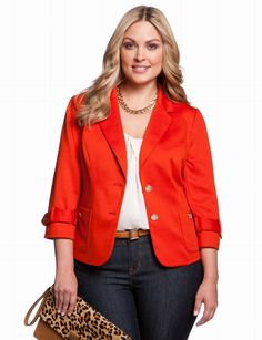 Patch Pocket Blazer | Plus Size Jackets & Blazers | eloquii by THE LIMITED