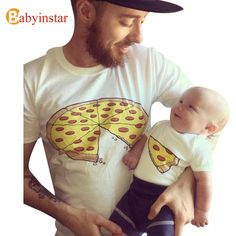 cd78ce51010 Babyinstar 2017 New Father Baby Clothes Summer Short Sleeve Cotton t-shirt  Outwear Fashion Family