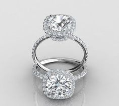 Harry Winston Inspired Ring - Round Center Stone in Cushion Halo Engagement Rings | Eternity By Yoni -- my dream ring!