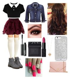 """Winter Movie Date"" by x-dancergirl-x ❤ liked on Polyvore featuring Chicwish, maurices, Tory Burch, NARS Cosmetics and Betsey Johnson"