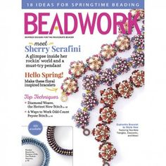 Euphorbia Bracelet - Marie New | CzechMates 2-Hole Crescent and Triangle Beads | Beadwork Magazine, April/May 2016