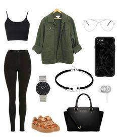 """polyvore"" by jesy-smith on Polyvore featuring mode, Topshop, Puma, MICHAEL Michael Kors, CLUSE, Casetify et Beats by Dr. Dre"