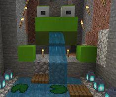Frog pond :3 : Minecraft Minecraft Farm, Minecraft Cottage, Cute Minecraft Houses, Minecraft Plans, Minecraft Construction, Minecraft Blueprints, Minecraft Crafts, Minecraft Buildings, Minecraft Stuff