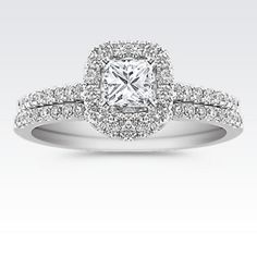 2.92 Carat Round Cut Halo Diamond Engagement Ring Vs2/f White Gold 18k Engagement Rings