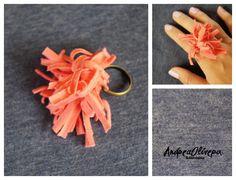 Anillo ajustable  Medusa coral